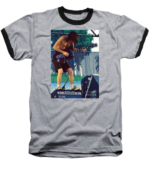 Angus Young Of A C D C At Day On The Green Monsters Of Rock Baseball T-Shirt