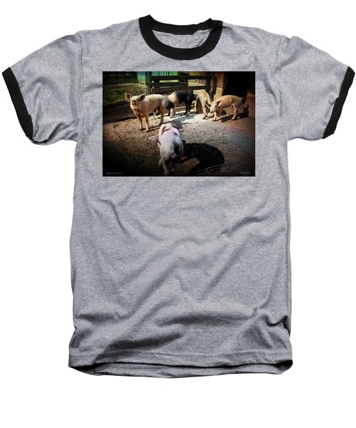 Baseball T-Shirt featuring the photograph Angustown Piggies by Cynthia Lassiter