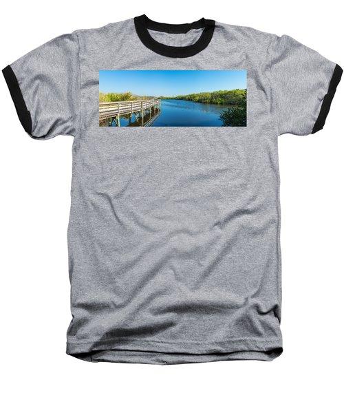 Anhinga Trail Boardwalk, Everglades Baseball T-Shirt