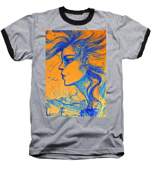 Anima Sunset Baseball T-Shirt by Leanne Seymour