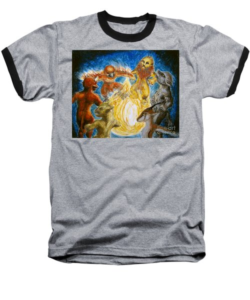 Animal Totem Dancers - Transformed Baseball T-Shirt