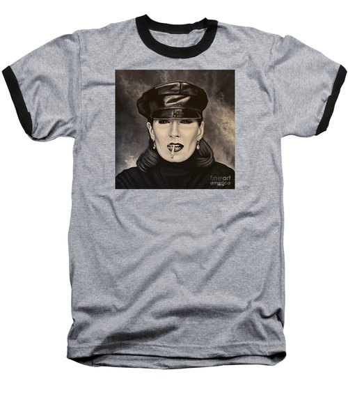 Anjelica Huston Baseball T-Shirt by Paul Meijering