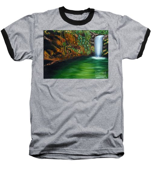 Annadale Waterfall Baseball T-Shirt