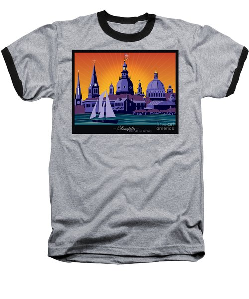 Annapolis Steeples And Cupolas Baseball T-Shirt
