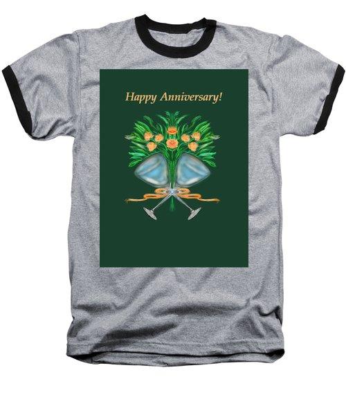 Baseball T-Shirt featuring the digital art Anniversary Bouquet by Christine Fournier