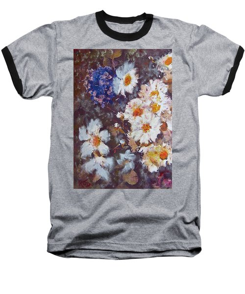 Another Cluster Of Daisies Baseball T-Shirt by Richard James Digance