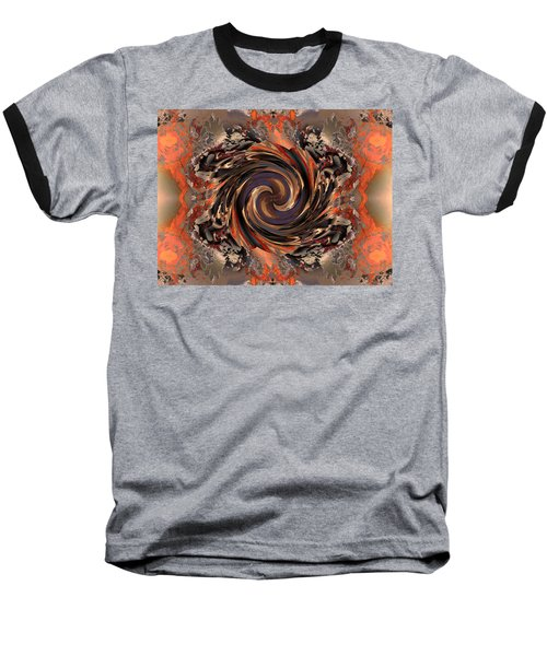Another Swirl Baseball T-Shirt by Claude McCoy