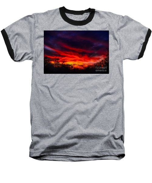 Baseball T-Shirt featuring the photograph Another Tucson Sunset by Mark Myhaver