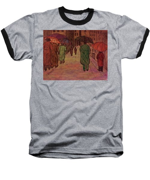 Another Walk In The Rain Baseball T-Shirt by Christy Saunders Church