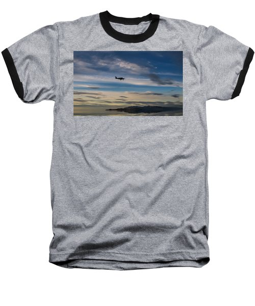 Baseball T-Shirt featuring the photograph Antelope Island - Lone Airplane by Ely Arsha