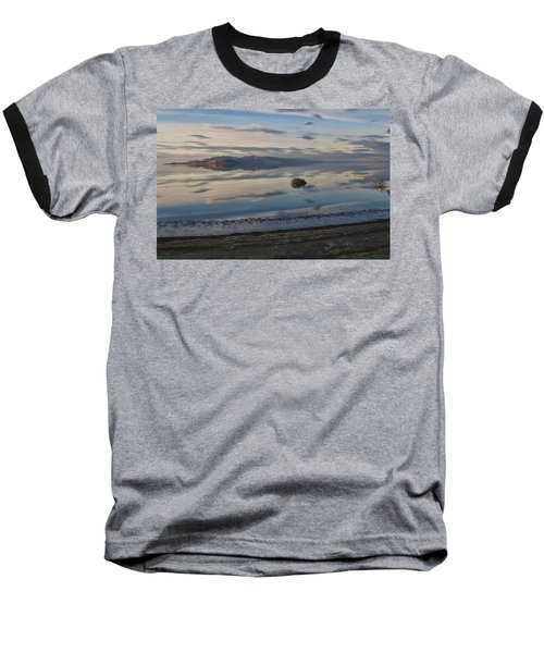 Baseball T-Shirt featuring the photograph Antelope Island - Lone Tumble Weed by Ely Arsha