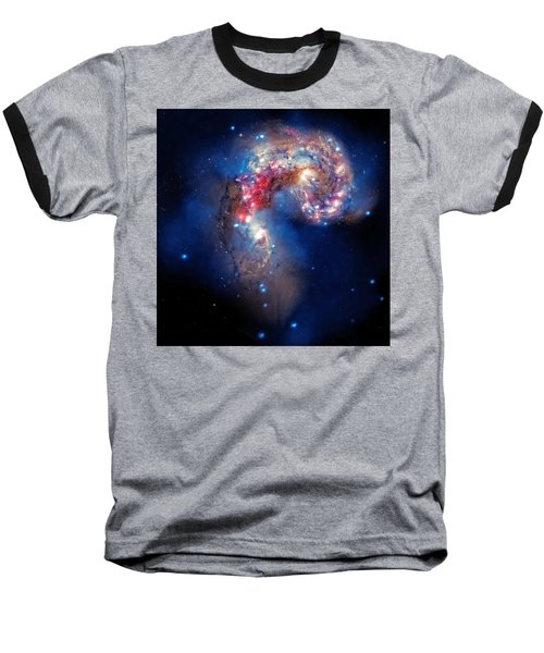 Antennae Galaxies Collide 2 Baseball T-Shirt
