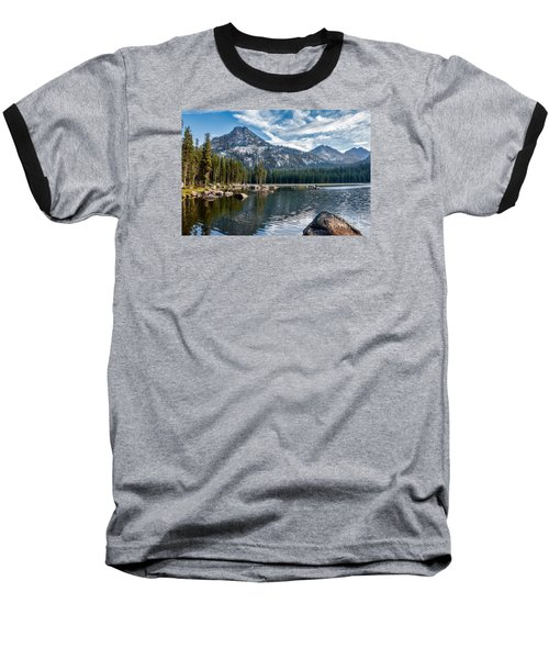 Anthony Lake Baseball T-Shirt by Robert Bales