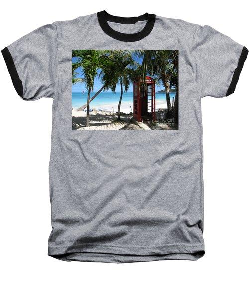 Antigua - Phone Booth Baseball T-Shirt by HEVi FineArt