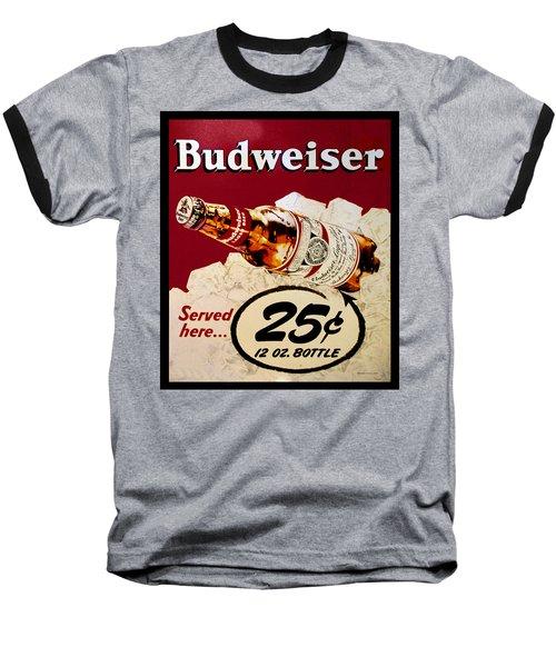 Antique Budweiser Signage Baseball T-Shirt
