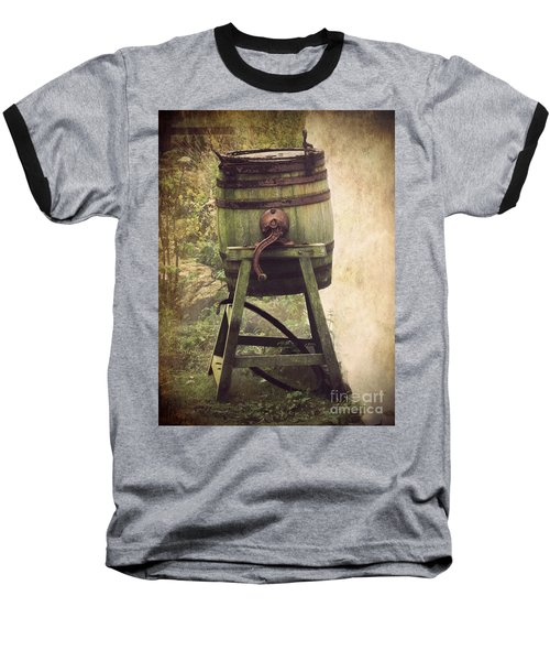Antique Butter Churn Baseball T-Shirt by Linsey Williams