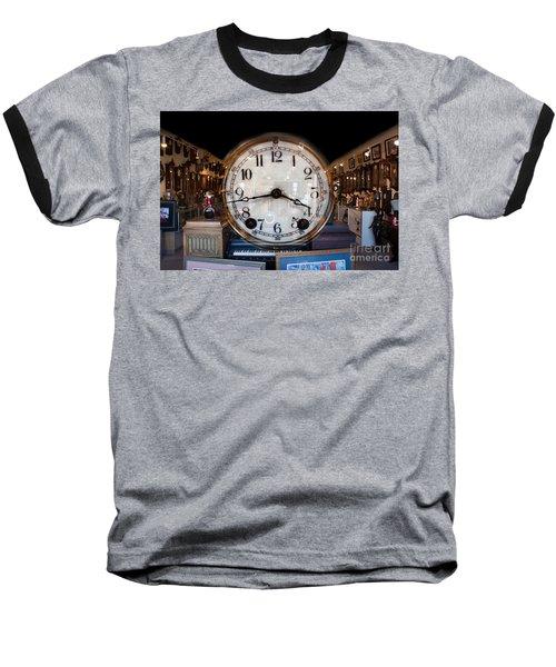 Baseball T-Shirt featuring the photograph Antique Clock Store by Gunter Nezhoda