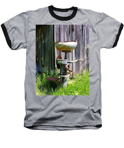 Baseball T-Shirt featuring the photograph Antique Cream Separator by Sherman Perry