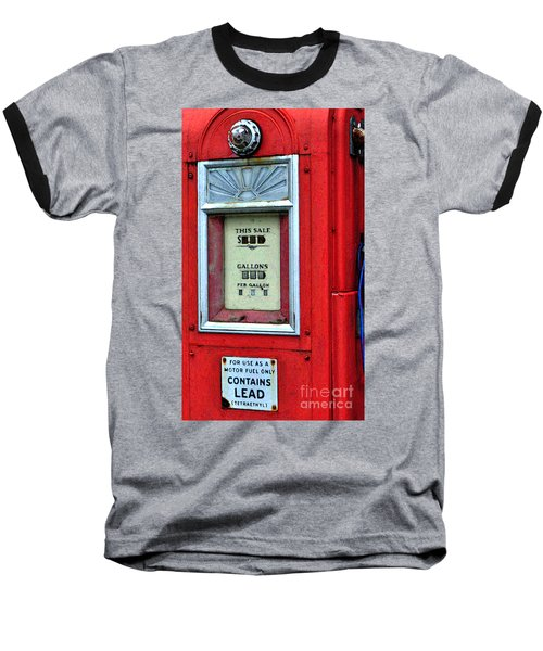 Antique Gas Pump Baseball T-Shirt