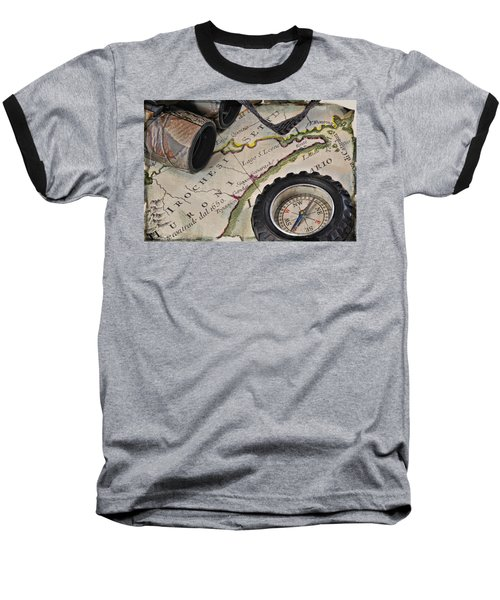 Antique Italian Map Upstate New York Baseball T-Shirt