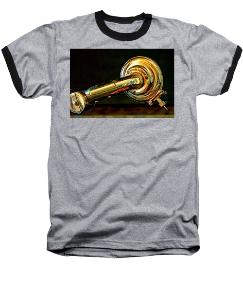 Baseball T-Shirt featuring the photograph Antique Phonograph Tonearm by Stephen Anderson