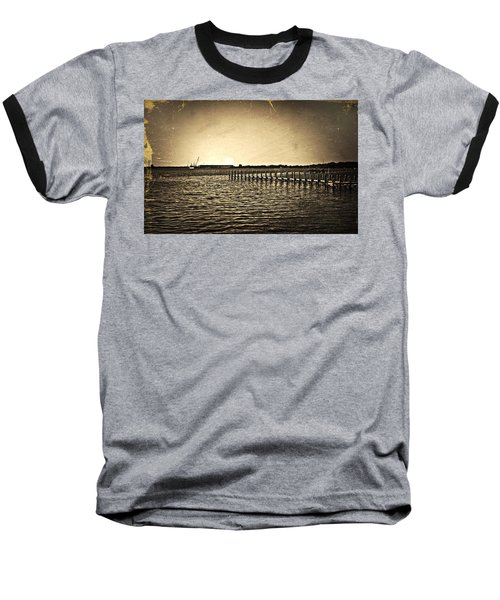 Antique Photo Of Pier  Baseball T-Shirt