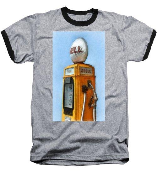 Antique Shell Gas Pump Baseball T-Shirt