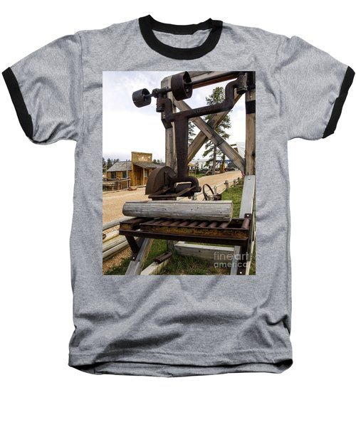 Baseball T-Shirt featuring the photograph Antique Table Saw Tool Wood Cutting Machine by Paul Fearn