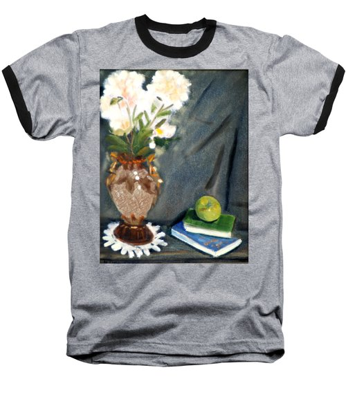 Baseball T-Shirt featuring the painting Antique Vase And Flower by Michael Daniels