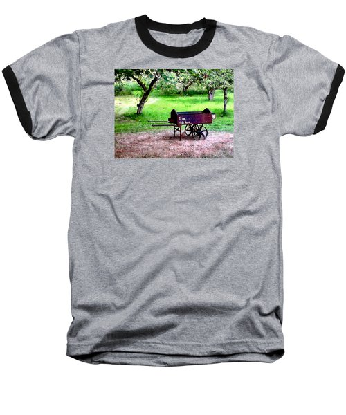 Baseball T-Shirt featuring the photograph Antique Wheelbarrow by Sadie Reneau
