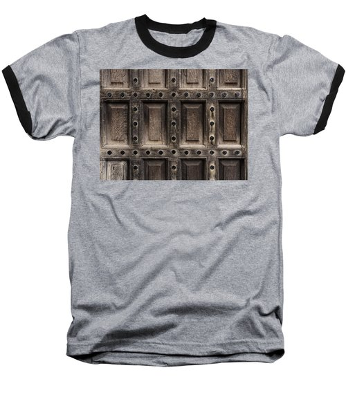 Antique Wooden Door Closeup Baseball T-Shirt