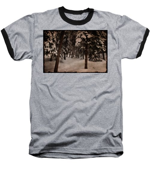 Antique Woodscape Baseball T-Shirt
