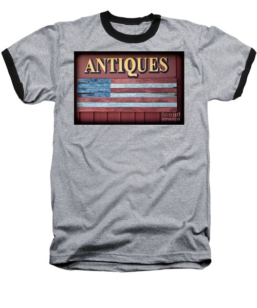 Antiques Baseball T-Shirt by Colleen Kammerer