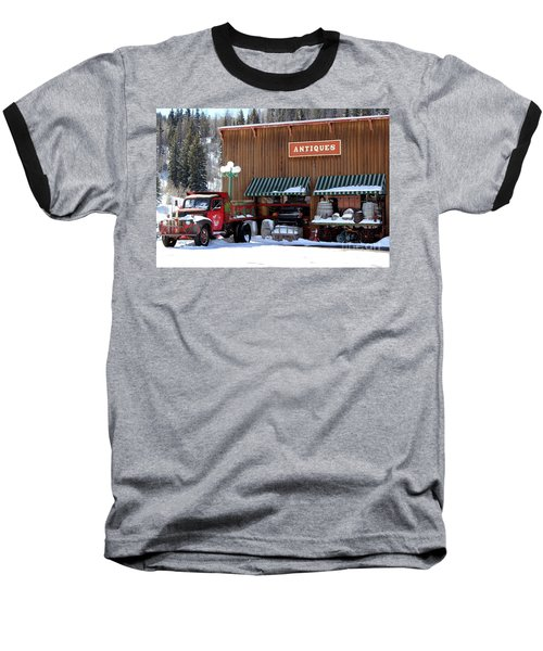 Antiques In The Mountains Baseball T-Shirt by Fiona Kennard