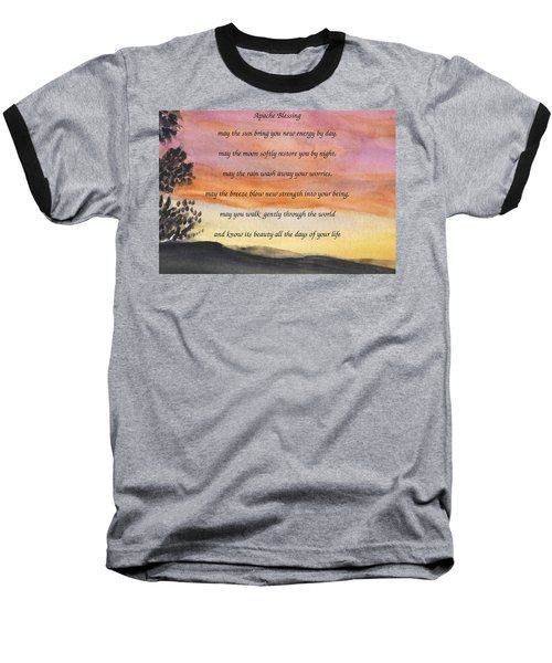Apache Blessing With Sunset Baseball T-Shirt