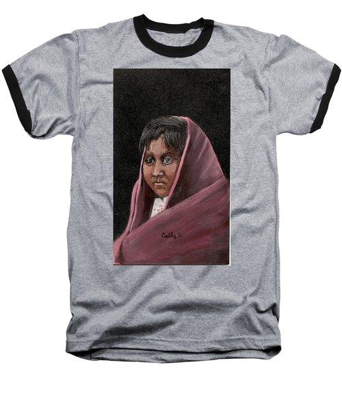 Apache Girl Baseball T-Shirt by Catherine Swerediuk