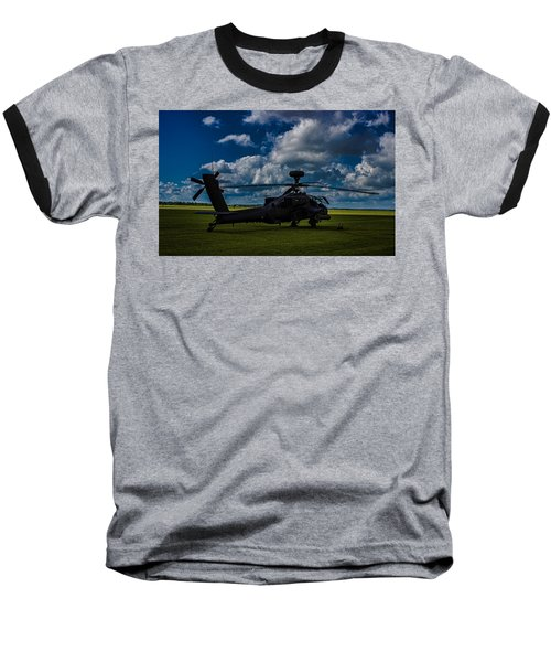 Apache Gun Ship Baseball T-Shirt by Martin Newman