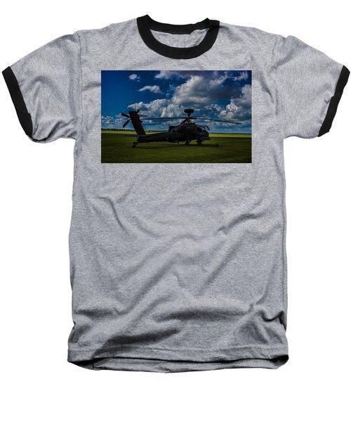 Apache Gun Ship Baseball T-Shirt