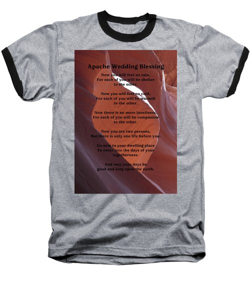 Apache Wedding Blessing On Canyon Photo Baseball T-Shirt