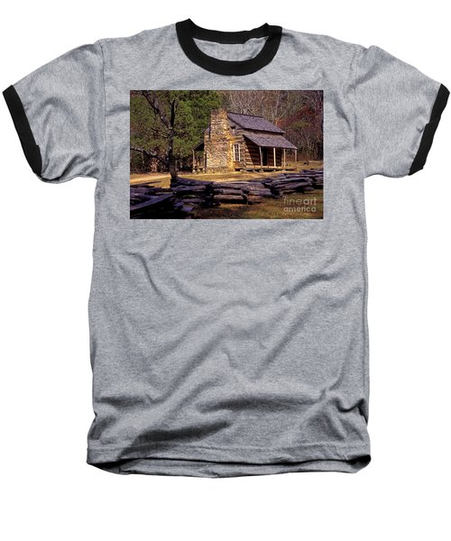 Appalachian Homestead Baseball T-Shirt by Paul W Faust -  Impressions of Light