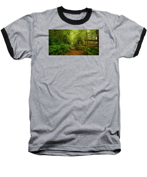 Appalachian Trail At Newfound Gap Baseball T-Shirt