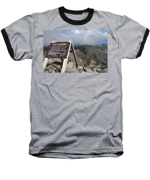 Appalachian Trail Mount Katahdin Baseball T-Shirt