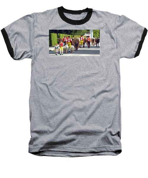 Appenzell Parade Of Cows Baseball T-Shirt