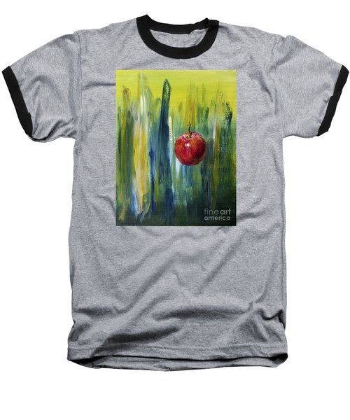 Baseball T-Shirt featuring the painting Apple by Arturas Slapsys