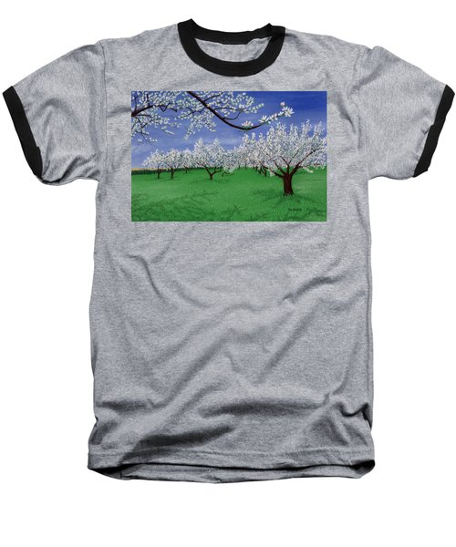 Apple Blossoms Baseball T-Shirt