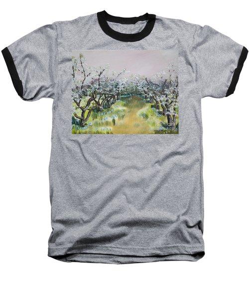 Apple Blossoms In Ellijay -apple Trees - Blooming Baseball T-Shirt
