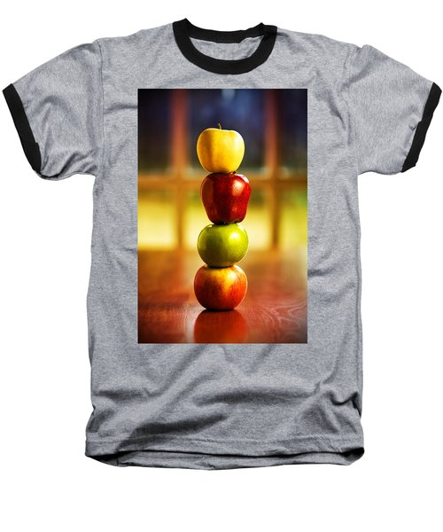 Apple Stack Baseball T-Shirt