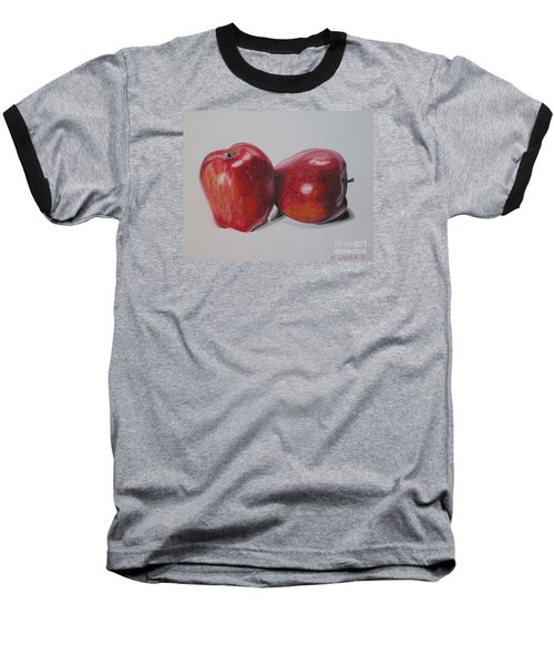 Baseball T-Shirt featuring the pastel Apple Study by Wil Golden