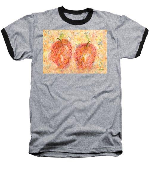 Apple Twins Baseball T-Shirt by Paula Ayers