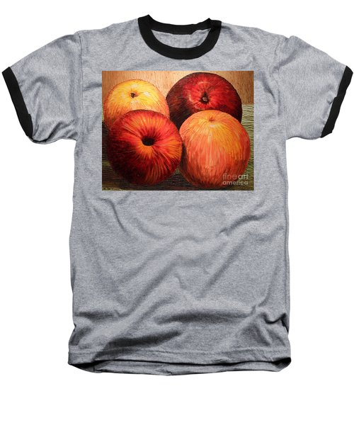 Apples And Oranges Baseball T-Shirt by Joey Agbayani